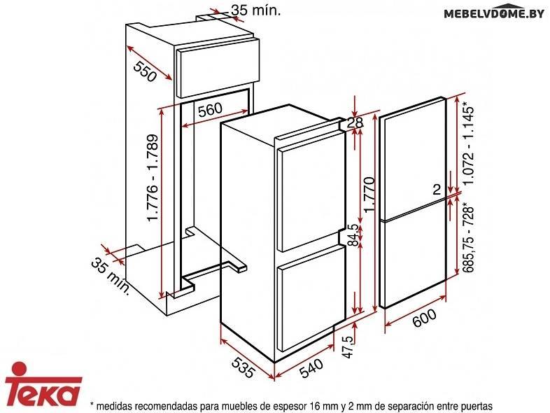 купить встраиваемый холодильник Teka Ci 342 в минске цены фото
